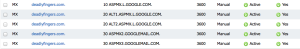 GoogleMXServers