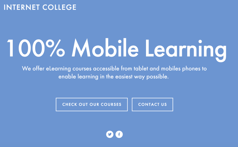 Check out my new Mobile Learning and eLearning Site